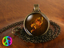 Anime Fairy Tail Guild Marks Fire Wing Pendant Necklace Jewelry Gift Art Cosplay