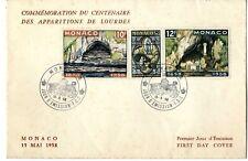 Sobre sellos Monaco 1958 Primer día de emisión first day cover