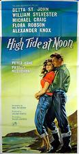 HIGH TIDE AT NOON 1957 Michael Craig, Patrick McGoohan UK 3-SHEET POSTER