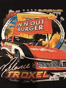 "NHRA DRAG RACING ""IN-N-OUT BURGER"" PRO MOD  MELANIE TROXEL T SHIRT   SIZE XL"