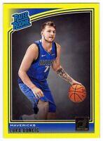 🔥2018-19 Panini Donruss Luka Doncic YELLOW FLOOD RC Rookie Dallas Mavericks🔥