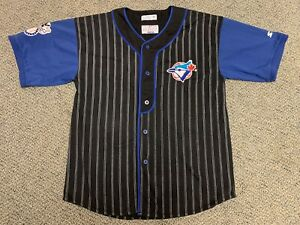 Vintage Toronto Blue Jays Starter Baseball Jersey Mlb Retro Black Blue Medium M