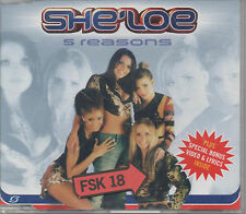She'Loe 5 Reasons Maxi CD NEU I Wish She Loe plus Special Bonus Video & Lyrics