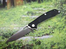 New EDC StoneWash D2 Blade G10 Handle Fast Open Folding Pocket Knife HX02BK