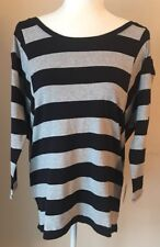 COLDWATER CREEK BLOUSE WOMEN SIZE 1X 18 MODAL BLEND BLACK&GRAY  Mrsp $69.95