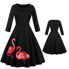 Flamingo Womens 1950s Vintage Style Rockabilly Cocktail Party Retro Swing Dress 2xl