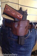 Leather Belt Gun Holster fits Beretta Storm Px4 series OWB Brown PTBS-LBR