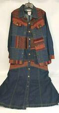 Toffee Apple Denim Jumper Western Wear Maxi Dress & Jacket Med.