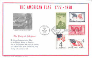 #929 First Day Souvenir Card/5 Flag Related Stamps w/FDC