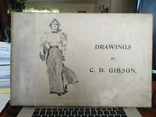 "Drawings by C.D. Gibson 1894 1st New York Edition - Famed ""Gibson Girl"" Creator"