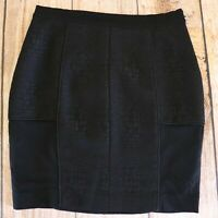 Womens WITCHERY Pencil Skirt ~ Size 10 ~ Textured, Lined ~ MBC