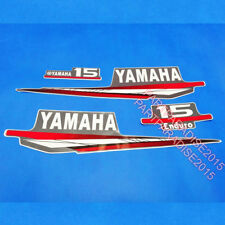 Reproduction Yamaha 15 hp outboard engine decal sticker set