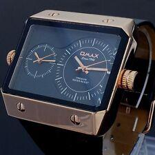 Rechteckige Armbanduhren mit Kunstleder-Armband für Erwachsene