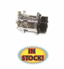 Sanden 508 R134a A/C Compressor with Serpentine Pulley in Chrome
