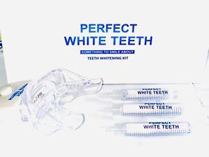 PEROXIDE WHITE TEETH WHITENING GEL KIT SYSTEM PERFECT WHITE TEETH WHITENER