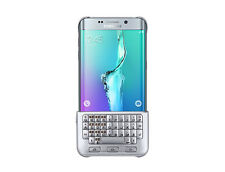 100% Genuine Samsung Galaxy S6 Edge+ Plus Keyboard Hard Case Cover SILVER UK NEW