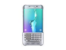100% Genuine Samsung Galaxy S6 Edge+ Plus Keyboard Hard Case Cover SILVER UK NEW
