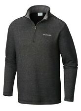 Men Columbia Great Hart Mountain III Quarter Zip Pullover Black Heather L XL XXL