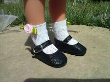 Chaussure noire pour poupée Les chéries corolle Paola reina Marie Francoise