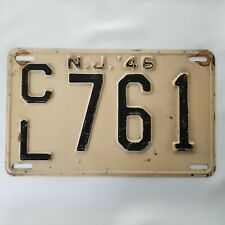 1946 NJ Car License Plate CL 761 - Camden County Good Condition