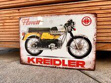 Kreidler Florett Blechschild Retro Nostalgie Vintage Garage Werkstatt 20x30cm