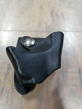Strong A5045 Handcuff Holder Duty Gear Black Leather Low Pro Kydex Style