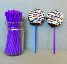 "4.5"" Plastic Purple Lollipop Sticks, Purple Sucker Sticks, Purple Cake Pop Stick"