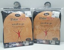 PolarMAX Tech Silk Weight Base Layer Set Men's Crew Shirt & Pants XX-LARGE Black