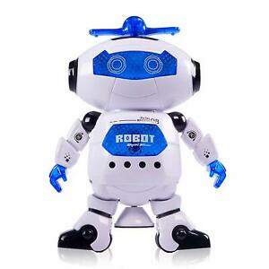 Dancing Robot with 3D Lights and Music Multi Color-Free Ship