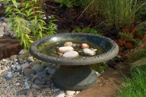 Coniston Bird Bath | Wild Birds Garden Eco Water Light-Weight Table Outdoor UK
