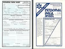Personal Data Sheet for Traveller Paranoia Press No. 02401 partial pad B
