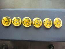 """MICHIGAN WOLVERINES  6-Pins 1"""" Vintage Pin Back Hat Pins *Free Shipping*"""