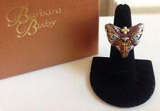 Barbara Bixby Sterling & 18K Multi-Gemstone Garuda Bird Ring in Size 8