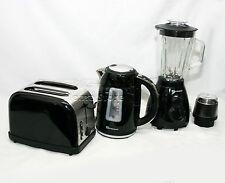 NERO 1.7 l Cordless Bollitore Elettrico + Wide PANE Slice Toaster +500 w Frullatore Set
