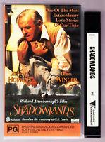 Shadowlands - Anthony Hopkins - Debra Winger VHS VIDEO TAPE