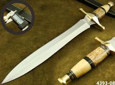 "15.3"" HANDMADE STAINLESS STEEL DAGGER HUNTING KNIFE W/SHEATH 4393-8"
