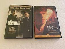 The Departed 2-Disc Spec. Ed + Talented Mr. Ripley 2-Dvd Lot Matt Damon