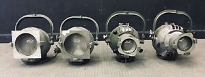 4 x Vintage Theatre Lamps spotlights with gel/filter holders