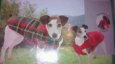 Karlie Ex Small 25cm Back Dog Coat Thermal Reversible Tartan Water & Wind Proof