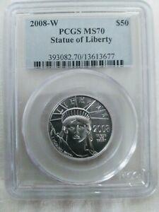 2008-W $50 Burnished Platinum American Eagle PCGS MS70 King of Platinum Eagles!