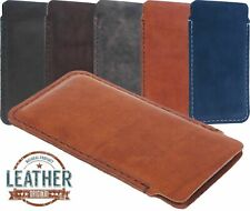 SLIM CHIC CASE COVER HANDSEWN OF FINEST COWHIDE POUCH SLEEVE FOR MOBILE PHONES