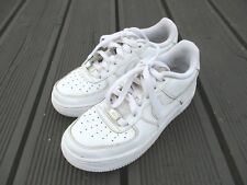 NIKE AIR FORCE 1 WHITE LEATHER SIZE 4 UK TRAINERS, 38.5 EUR SKU 314192-117