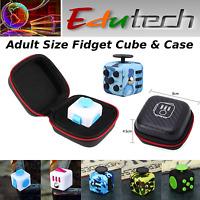 EduTECH- Fidget Cube w Case- Adult Size- Stress Relief-Focus Tool- ADHD-Spectrum
