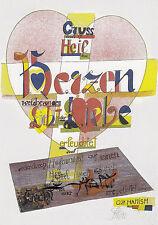 """Tarjeta de arte/Postcard Art-comunidades: """"saludos y la salvación corazones,? cuáles de la..."""