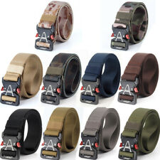 "1.5"" Tactical Nylon Webbing Belt Quick Release Buckle Military Heavy Duty Belts"