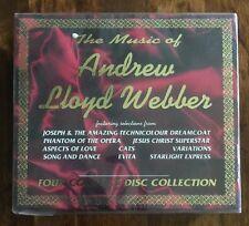 Music Of Andrew Lloyd Webber 4 CD Collection~Joseph, Evita, Cats, Phantom+ NEW