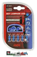 LAMPADINE12V KIT LAMPADE CRUSCOTTO LED 1 LED T3 W2X4 6D 5PZ BLU LAMPA