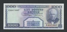 More details for iceland  1000 kronur  1961  krause 46  uncirculated banknotes