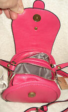 PINK shoulder bag with two zip up compartments - FREE POST