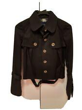 Burberry blue label black belted coat 100% cotton size 36